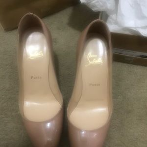 Christian Louboutin simple pump 85 mm size 38 nude